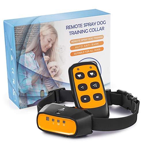 Anti-Bell-Hundehalsband, QUEENMEW Fortgeschrittene 2 in 1 Fernsprüh-Hundebellenvorrichtung mit Tonsignal & sanftem Sprühen, Harmloser & humaner Halsband-Trainer für -