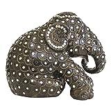Elephant Parade Mr. Stripe Figura de elefante pintada a mano, edición limitada, 15 cm