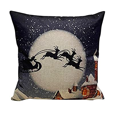 Christmas Pillow Case, Eenkula 2016 New Sofa Bed Home Decoration Festival Pillow Case Square Cushion Cover 45cm*45cm - low-cost UK light shop.