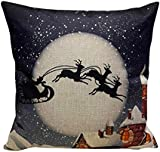 Christmas Pillow Case, Eenkula 2016 New Sofa Bed Home Decoration Festival Pillow Case Square Cushion Cover 45cm*45cm