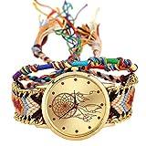Best Geneva looking watch - Handmade Braided Dreamcatcher Friendship Bracelet Watch Rope GENEVA Review