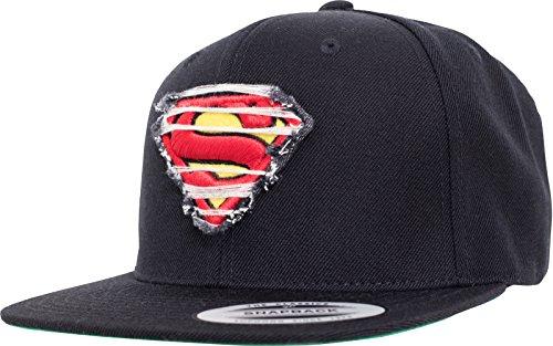 Superman Damen / Herren Snapback Kappe Destroyed Unisex Baseball-Cap Erwachsene