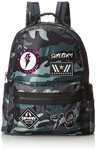 Superdry Damen Midi Punk Rucksackhandtaschen, Multicolore (Patched Camo) 25x38x13 cm