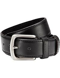 Coffre-fort en cuir ceinture en PU avec fermeture éclair à l'arrière Noir 3,8cm Largeur de grande qualité traitement