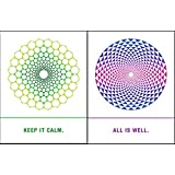 Quiplip EM06096PCK Sacred Geometry Cards All Well & Calm, 6-pack