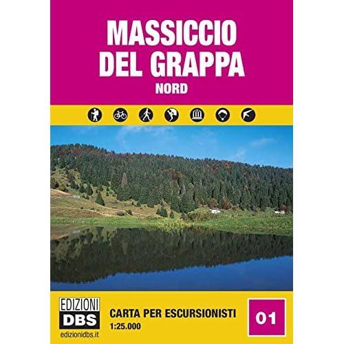 Massiccio Del Grappa Nord. Carta Per Escursionisti 1:25.000