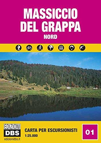 Massiccio del Grappa nord. Carta per escursionisti 1:25.000 (Cartine)
