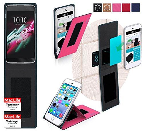 reboon Hülle für Alcatel OneTouch Idol 3C Tasche Cover Case Bumper | Pink | Testsieger