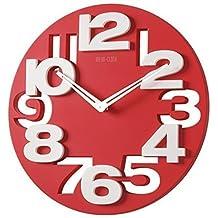 Amazonfr Horloge Cuisine Rouge Livraison Gratuite