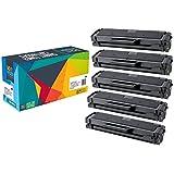 Doitwiser ® Samsung Xpress SL-M2020 SL-M2020W SL-M2022 SL-M2022W SL-M2026 SL-M2026W SL-M2070 SL-M2070FW SL-M2070W SL-M2078W Tóner Monocromático Compatible - MLT-D111S (5 Pack)