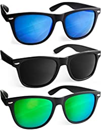 UVprotect® Sonnenbrille Wayfarer Design verspiegelt W02