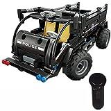 Modbrix Technic 2,4 Ghz RC Bausteine SWAT Polizei Mannschaftswagen, Ferngesteuertes Auto, 462 teiliges Konstruktionsspielzeug