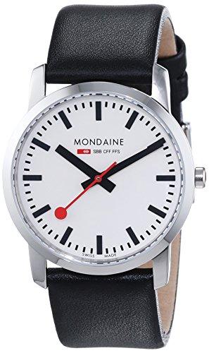 Sbb-uhr Die (Mondaine Unisex-Armbanduhr SBB Simply Elegant 36mm Analog Quarz A400.30351.11SBB)