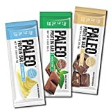 Paleo Protein Bars® Grass-Fed Beef Variety Box (3 Flavors) (20g Protein) (12 Bars) w/Prebiotics Low Net Carb Gluten Free