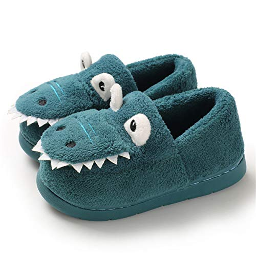 Sakuracan Toddler Boys Girls House Slippers Cartoon Dinosaur Warm Home Shoes Indoor Bedroom