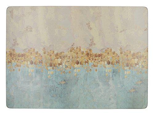 Creative Tops Golden Reflections Aufdruck'große Tischsets, 40cm x 29cm (4Stück), Kork, gold, 1x 1x 0,5cm