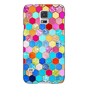 Jugaaduu Coloured Hexagon Pattern Back Cover Case For Samsung Galaxy S5
