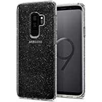 Spigen [Liquid Crystal] Samsung Galaxy S9 Plus Hülle (593CS22918) Glitzer Design Glänzende Transparent Handyhülle Passgenau Kratzfest Durchsichtige Schutzhülle Case, Glitter Crystal Quartz