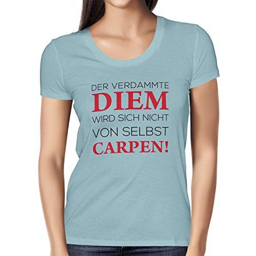 TEXLAB - Verdammter Diem - Damen T-Shirt Hellblau