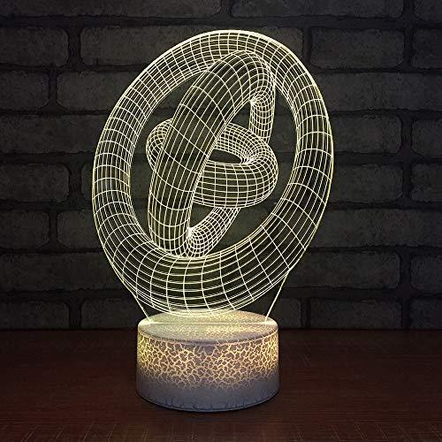 JYHW Visuelle Tischlampe Bunte 3D Led Rundrohr Surround Leuchte Usb Schlafen Beleuchtung Geburtstagsgeschenke Nachtlicht -