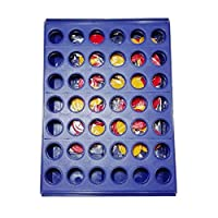 Binghotfire Intelligent Game ToysThree-dimensional Four-game Four Chess Educational Toys Blue