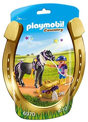 Playmobil Granja de Ponis - Jinete con Poni Estrella (6970)