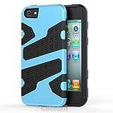 Cocomii Deadpool Armor iPhone SE/5S/5 Hülle [Strapazierfähig] Taktisch Griff Schmale Passform Stoßfest Gehäuse [Militärisch Verteidiger] Case Schutzhülle for Apple iPhone SE/5S/5 (D.Baby Blue)