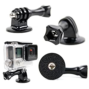 DURAGADGET Tripod Adapter Attachment For All GoPro Models Including GoPro HD Hero 1, Hero 2, Hero 3, Hero 3+ Plus, Hero4, Hero4 Session, Naked/Helmet/LCD BacPak (Black, White, Silver, Surf, Outdoor & Sport Editions)