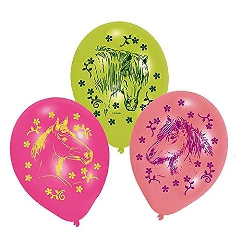 Amscan - 450153 - 6 Ballons Latex Chevaux - 70 cm/8''