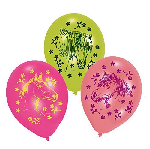 Amscan - 450153 - 6 Ballons Latex Chevaux - 70 cm/8''