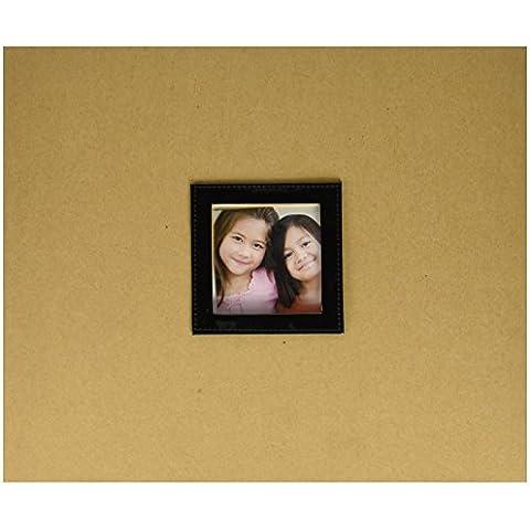 Colorbok Whipped Anillo de 12x 12pulgadas 3álbum de fotos con ventana, kraft