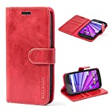 Mulbess Motorola Moto G 3rd Gen Case Wallet, Leather Flip
