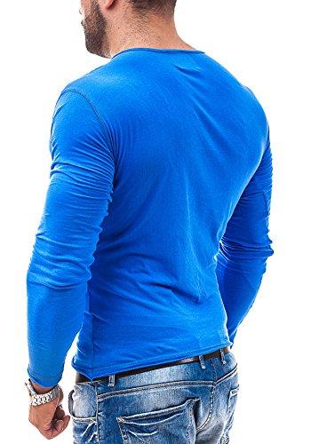 BOLF Longsleeve T-Shirt Langarm Shirt Sweatshirt Pullover Pulli STEGOL 547 Blau