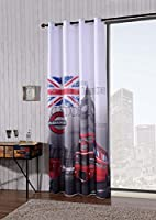 Rideau prêt à l'emploi.Dessin très suggestif de la célèbre capitale anglaise.Il est réellement imprimé comme sur la photo et s'adapte à tous les environnements modernes.Les dimensions sont de140 x 280 cm. Réalisé en 100 % polyester.Il est réalisé ave...