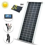Panneau solaire, nouveau panneau solaire polycristallin flexible de 20W durable...