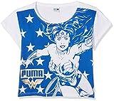 PUMA Wonder Women T-Shirt Enfant Puma White/Lapis Blue FR : L (Taille Fabricant :...