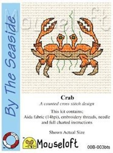Mouseloft Mini Cross Stitch Kit - Crab, By the Seaside Collection by Mouseloft -