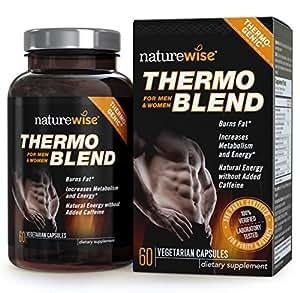 NatureWise Thermo Blend Advanced, thermogenetische Fatburner für die Gewichtsreduktion und natürliche Energie (60 Kapseln)