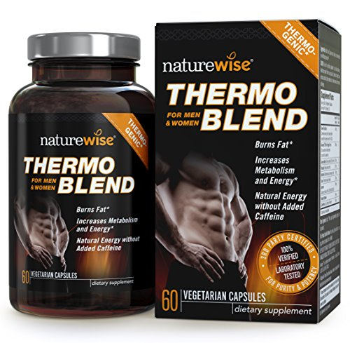 NatureWise Thermo Blend Thermogenic Fat Burner for Weight Loss and Natural Energy, 60 count