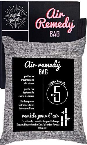Air Remedy Bag Aktivkohle aus Bambus Luftreiniger, Auto Entfeuchter und Raum Lufterfrischer - 500g Beutel Luftentfeuchter und Geruchsentferner - Geruchsneutralisierer, Lufterfrischer, Raumentfeuchter