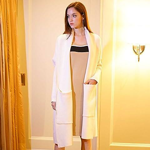 maglia cappotto di lana del cardigan Women