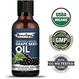 GrapeSeed Oil Cold Pressed 100% Pure And Natural Carrier Oil,Grape Seed Oil For Skin And Hair By Aromatique (30ML)