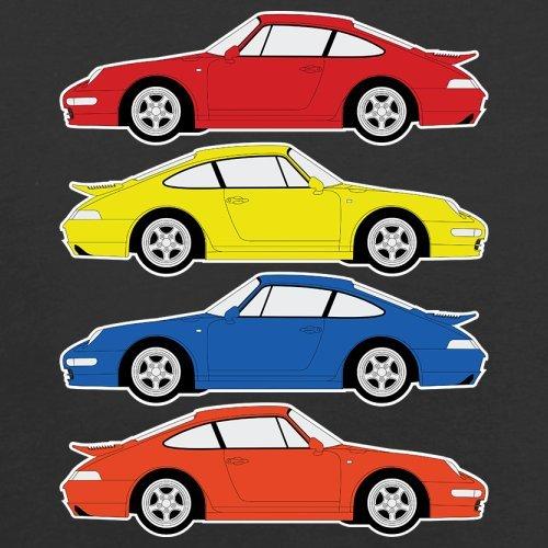 4 Farben Porsche 993 - Damen T-Shirt - 14 Farben Schwarz