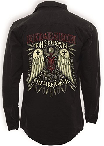Legendary Red Baron - Worker Shirt - Black - King Kerosin XL