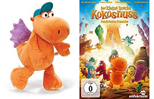 Der kleine Drache Kokosnuss - Plüschtier Nici 37925 ca. 25 cm + DVD Film Feuerfeste Freunde im Set - Deutsche Originalware [1 DVD]