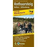 Rothaarsteig, Brilon - Dillenburg: Leporello Wanderkarte mit Ausflugszielen, Einkehr- & Freizeittipps und Zugangswegen…