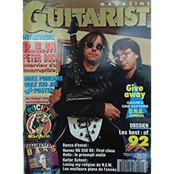Guitarist Magazine (Français) [N° 42] Décembre 1992 – REM, Television, Ugly Kid Joe, Frank Margerin (Rédac' Chef) + Supp Bass + Guitar School + Poster Ugly Kid Joe