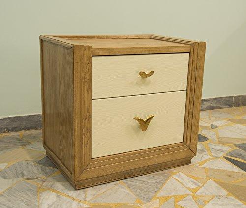 Elfenbein-schlafzimmer-möbel (Ebanisteria Gambella - Braun und Elfenbein Nachttisch)