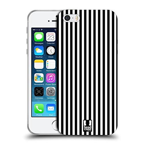 Head Case Designs Bianco E Nero Serie Zip It 2 Cover Retro Rigida per Apple iPhone 7 / iPhone 8 Nero