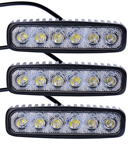 Leetop 3X 18W LED Barre de Travail Phares étanche Longue Portée Led Projecteur